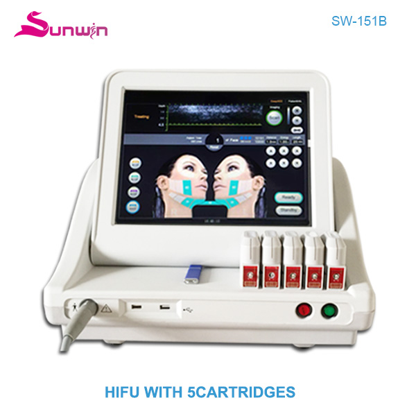SW-151B HIFU face lifting body slimming wrinkle removal machine for beauty clinic and beauty salon
