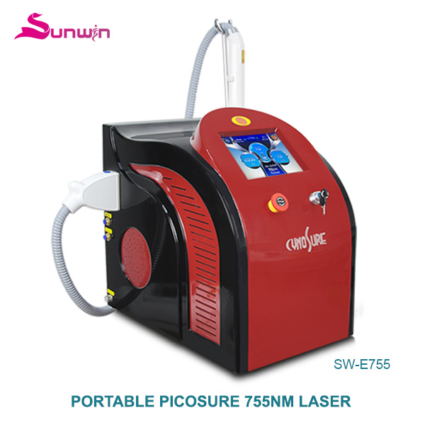 SW-E755 Portable picosure laser picosecond cynosure 1064nm 532nm 755nm machine with honeycomb head