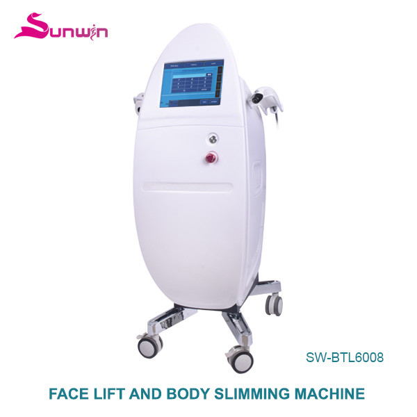 SW-BTL6008 RF ultrasound HIFU no shots limited body slimming weight loss face lifting fat removal skin tightening beauty equipment