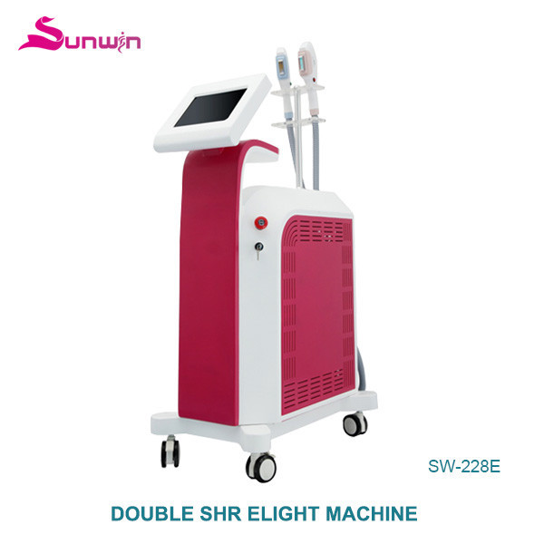 SW-228E Fast IPL Elight double SHR hair removal machine small wrinkle removal ipl flash lamp skin care rejuvenation beauty device
