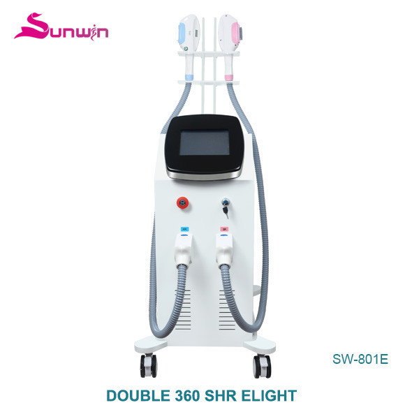 SW-801E hair removal medical device beard removal 2in1 opt shr elight beauty salon equipment
