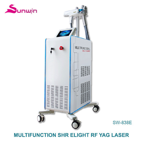 SW-838E hair removal medical device opt / shr hair removal pigmentation removal OPT nd yag shr Multi-function machine