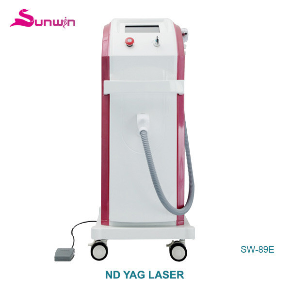 SW-89E nd yag laser beauty equipment pigmental removal purple color tattoo removal Q Switched red color tattoo remval sysytem