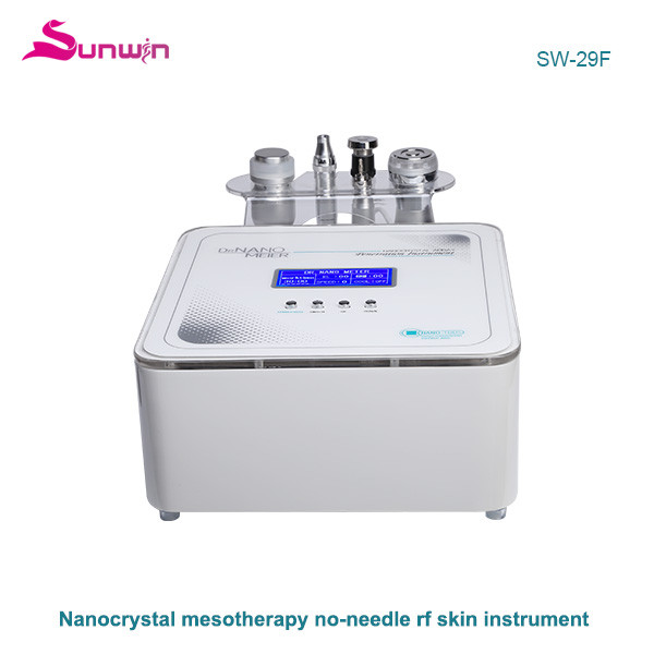 SW-29F 4 In 1 EMS RF Led Mesotherapy Electroporation Gun Nano crystal Machine
