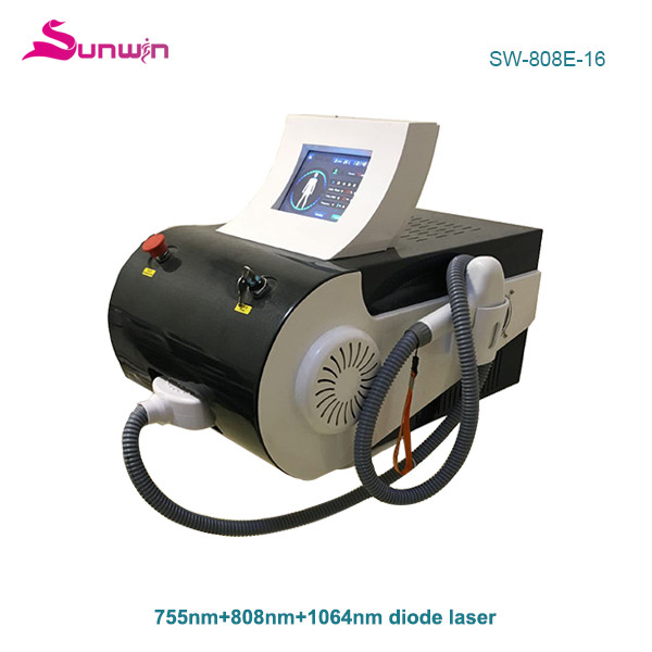 SW-808E-16 home use diode laser hair removal professional diode laser fda approved arms and legs hair removal 755nm 1064nm 808nm diode laser painless hair removal machine