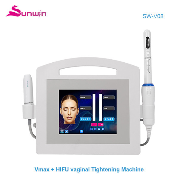 SW-V08 HIifu vmax face lifting and skin tightening skin Anti-aging HIFU vaginal tightening vagina care CE approved machine radar system clicnic salon use