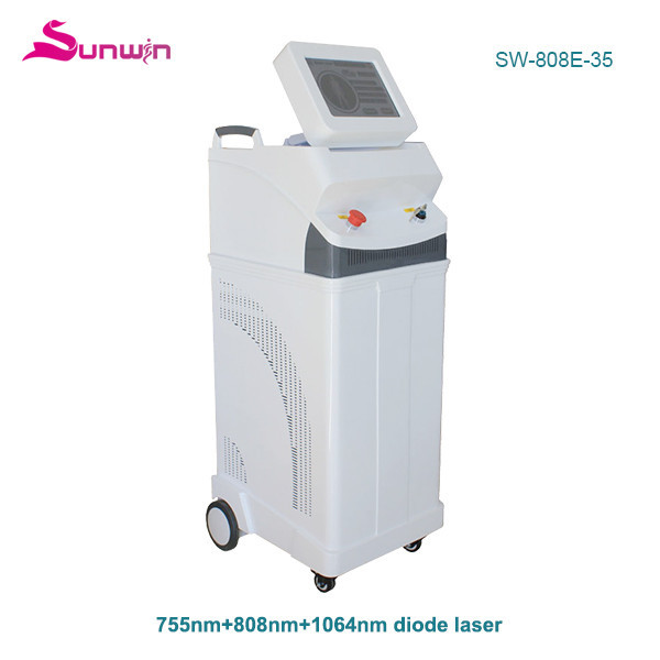 SW-808E-35 1064 808 755 permanent hair removal skin rejuvenation treatment laser hair reduction