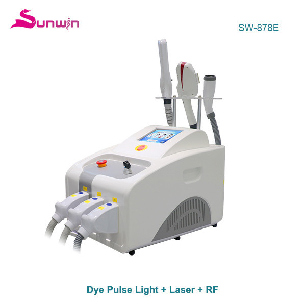 SW-878E 3 in 1 DPL OPT IPL ELight  RF Picosure Laser IPL hair removal skin rejuvenation machine salon nd yag laser tattoo removal multifunction beauty system