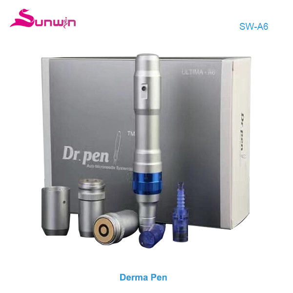 SW-A6  Handheld electric microneedle derma roller derma pen beauty Machine