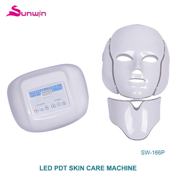SW-166P LED PDT light therapy 3 colors photon Neck Mask Facial Mask skin care skin rejuvenation home use beauty machine