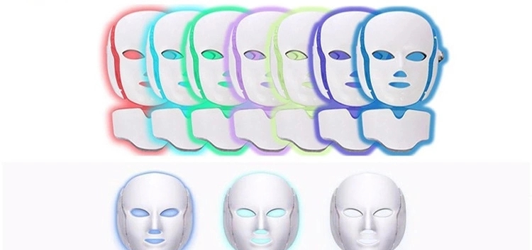 SW-12P 7 Colors LED Light Facial Neck Mask Skin Rejuvenation Face Care Treatment Beauty Anti Acne Therapy Facial Whitening