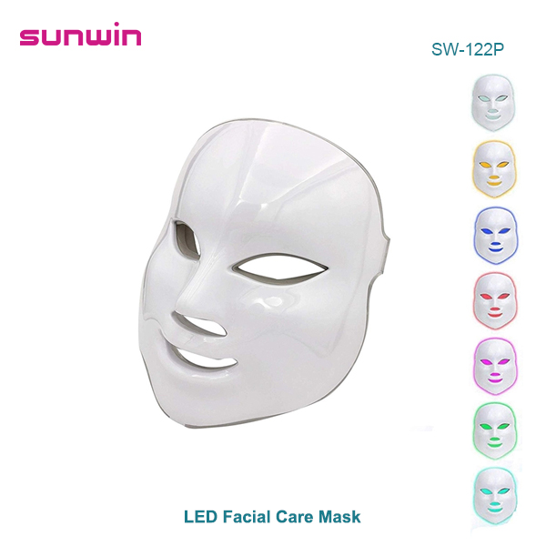 SW-122P 7 Colors LED Light Face Mask Facial Care Skin Rejuvenation Home Use Beauty Machine