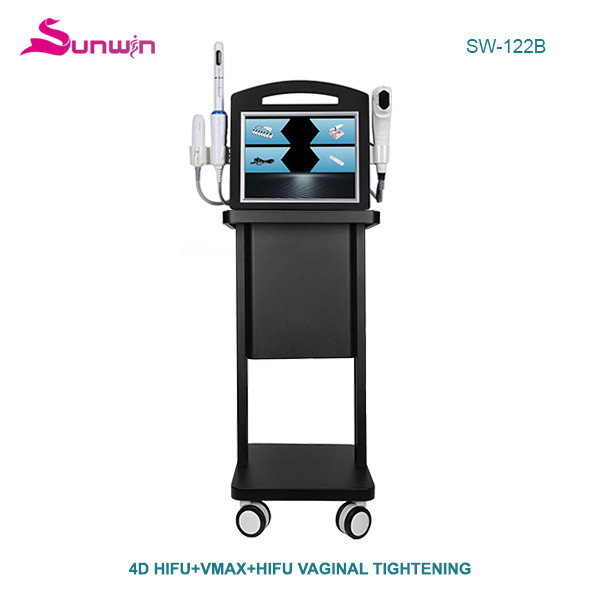 SW-122B Portable 3 in 1 Vmax +4D Hifu vaginal tightening anti wrinkle face and body lifting machine